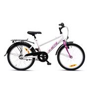 """Pigecykel 20"""" 3-gear 20.03 hvid/pink"""