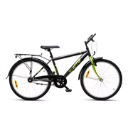 """Drengecykel 24"""" 3-gear 24.03 koksgr/grøn"""