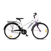 "Pigecykel 24"" 3-gear 24.03 hvid/lilla"