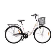 "Shopper 26"" 3-gear pige Pearl white"