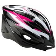 Cykelhjelm sort/pink/hvid junior 48-55