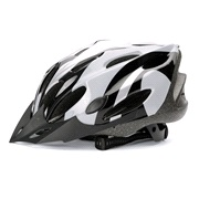 Cykelhjelm sort/grå/sølv large 58-62
