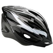 Cykelhjelm sort/grå/hvid junior 48-55