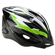 Cykelhjelm sort/grøn/hvid junior 48-55