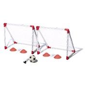 Fodboldmålsæt m/4 kegler, bold og pumpe
