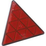 Trekantrefleks rød 150 mm med skruer