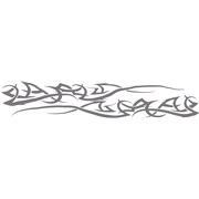 Body tattoo silver, 35x230 cm, 2 stk.