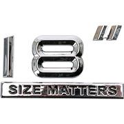 "Chrom emblem 18"" SIZE MATTERS"