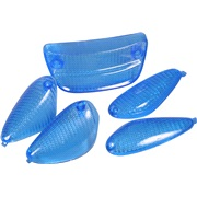 Bag/blinklysglassæt, blå, MC2