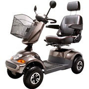 El-scooter PF2K 550W 36AH 4-Hjul mokka