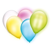 Waka-Dabaloon 5 balloner med LED lys