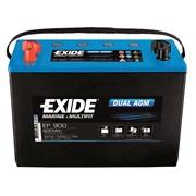 Batteri EP900 - Exide DUAL AGM - 100 Ah
