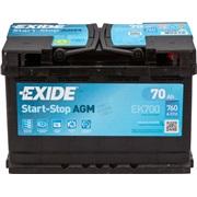 Bilbatteri 57001 - Exide EK700 - 70 Ah