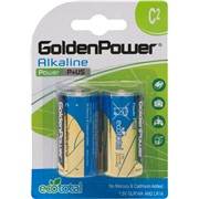 Alkaline batteri C LR14 2-pak Tecxus