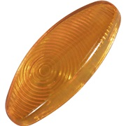 Blinklysglas for mini finger, orange